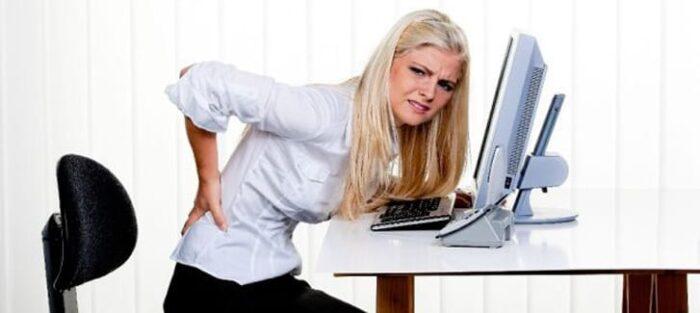 dor na coluna lombar computador